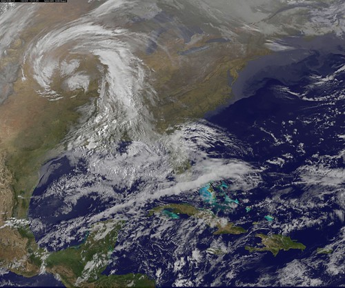 GOES US East Coast View March 9, 2010