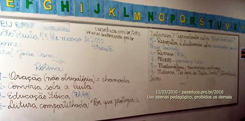 Rotina Prevista - 11/03/2010