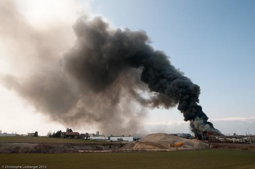 Fire in Meyrin-Satigny