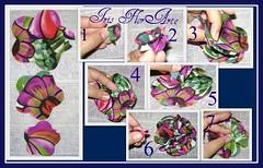 Pap da flor com molde da flor cheinha, para acessório de cabelo (Iris Florarte) Tags: de flor artesanato fuxico mão pap cabelo molde tecido feito cetim acessório