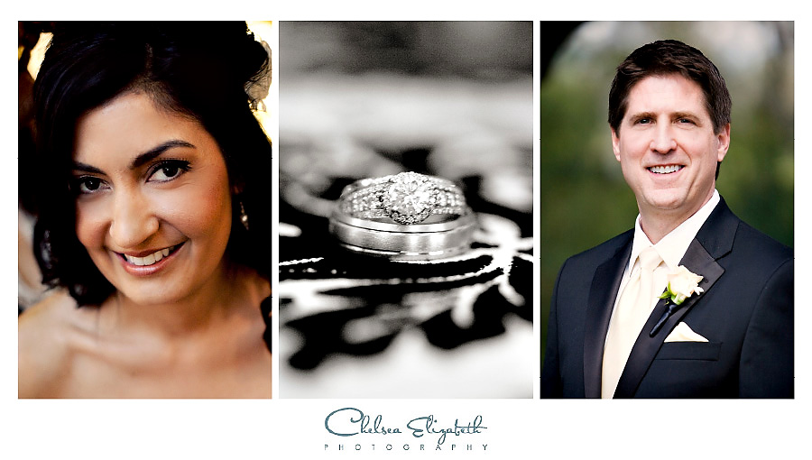 Bride and Groom Portraits and wedding ring details