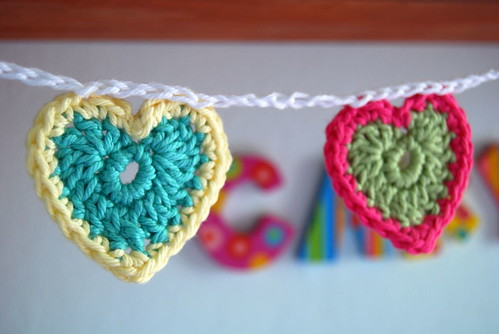 Teeny Tiny Crocheted Hearts