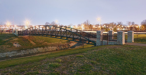 River des Peres Greenway, in Saint Louis, Missouri, USA - small pedestrian bridge