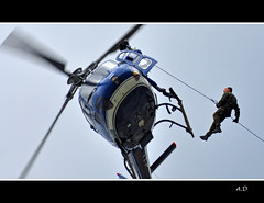 helitreuillage GIGN (Alexis.D) Tags: france plane french army fighter aviation military police meeting elite frame histoire bomber section sag militaire avion nationale intervention bombardier gendarme historique gendarmerie chasseur ecureuil alais aerien aerienne gendarmes gign helitreuillage eurocoptere treuillage frt