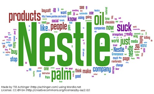 Wordcloud: Nestlé Facebook-Kommentare