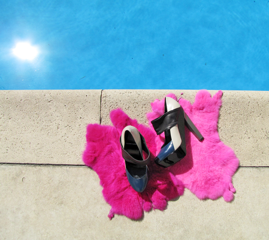 pierre hardy shoes by the pool