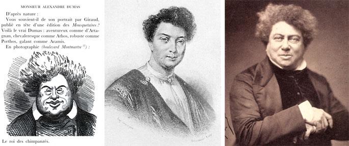 Marcelin. Dumas par Giraud, 1846. Portrait par Nadar, 1855.