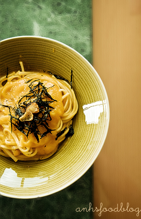 Udon with kabocha sauce