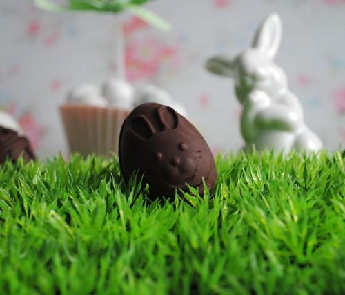 Chocolate bunny eggs
