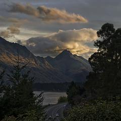 Road to Queenstown (Ian@NZFlickr) Tags: road sunset walter lake clouds bravo peak nz queenstown aotearoa wakatipu