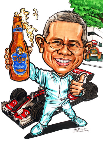 Caricature for APB - F1, Tiger beer & HardRock Cafe