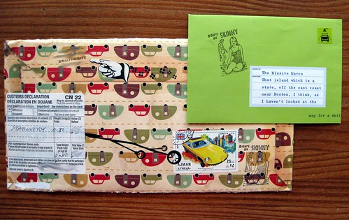 vintage campers envelope, back