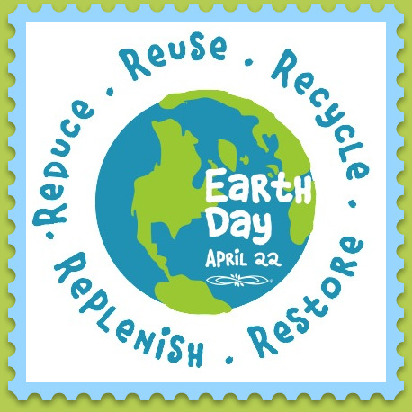 earth-day stamp