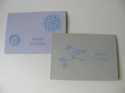 Birthday stamped cards