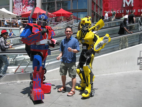 optimus, bumblebee and me