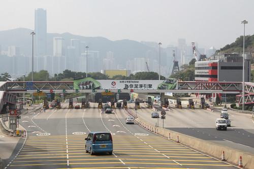 Driving from Kowloon to Hong Kong Island