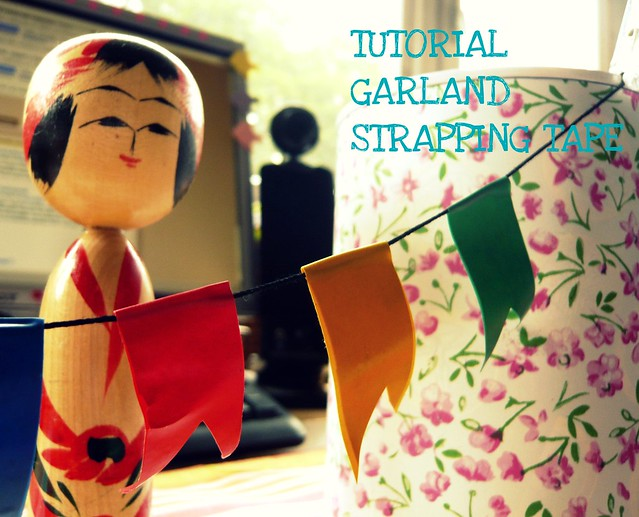 tutorial garland strapping tape