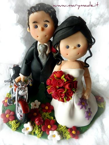 Il cake topper per la torta nuziale del matrimonio di Paola C.
