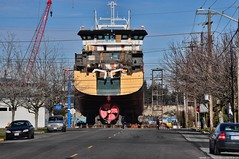 2017-02-12 Factory Trawler America's Finest (02) (2048x1360) (-jon) Tags: anacortes fidalgoisland sanjuanislands skagitcounty skagit washingtonstate salishsea guemeschannel portofanacortes dci dakotacreekindustries drydock boat ship vessel americasfinest fishermansfinest factorytrawler trawler skipstekniskas st116xl build hull construction paint shipyard boatyard a266122photographyproduction pacificocean pacific ocean pacificnorthwest pnw