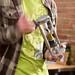 Josh Gordonson holds his prototype cotton candy gun