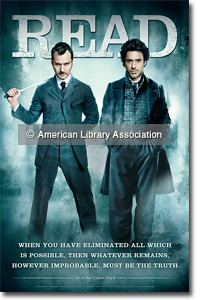 Sherlock Holmes READ Poster with Jude Law and Robert Downey, Jr. by ALA staff