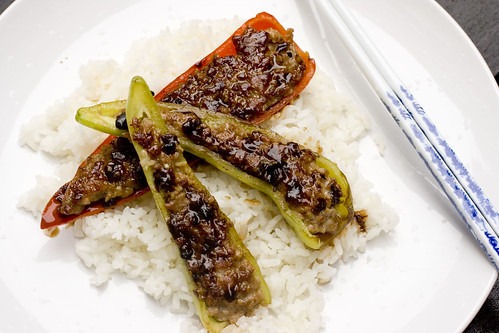 Stuffed Peppers with Black Bean Sauce 6
