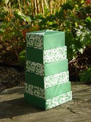 """""""Nesting Boxes"""" von Tomoko Fuse (Tagfalter) Tags: origami box tomoko fuse"""