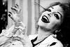 Stranger #59 - Debbie (Universal Stopping Point) Tags: halloween eyelashes zombie lexington kentucky makeup coffeeshop stranger undead debbie festivities thrillerdance 100strangers bwpresetexposure musicvideorecreation