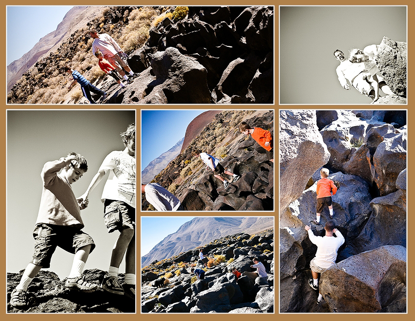 fossil falls collage