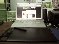 My studio (Wedgienet.net - Illustration / Design) Tags: computer studio design photo mac crafts craft tablet drafting intuos macbook reginasilva wedgienet wedgienetnet regsilva