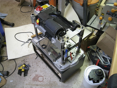 disassembled Craftsman 13-inch planer
