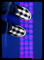 checkered (sediama (break)) Tags: blue germany shoes explore converse blau wuppertal schuhe nostairs sediama bysediamaallrightsreserved