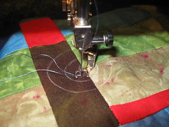 Free motion start to quilting circle