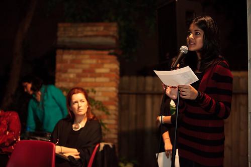 Aishah on open mic