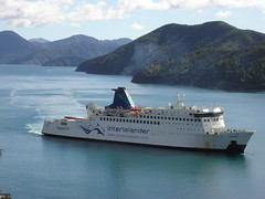 Interislander Ferry arriving at Picton