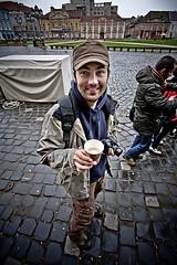 coffee to go (der_makabere (Cornel Putan)) Tags: street wallpaper portrait color coffee photoshop canon eos iso800 fotograf photographer go wide sigma super p 1020mm angular der valentin ultra piata cornel f9 lightroom timisoara alin unirii putan 450d romanin dermakabere vieru gupr makabere