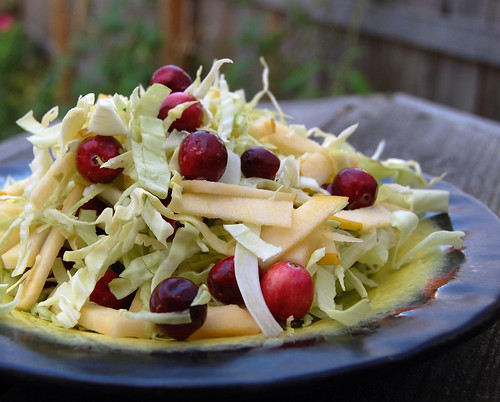 Cabbage cranberry salad