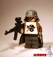 Alternative WWII Fritz (JasBrick) Tags: amazing lego wwii german hazel custom armory luger mp44 brickarms