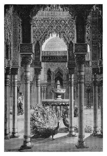 048-Patio de los leones-La Alhambra de Granada-Spain (1881)- Doré Gustave