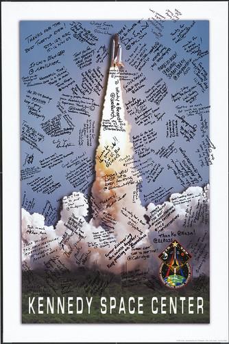 STS-129 NASA Tweetup Signed Poster