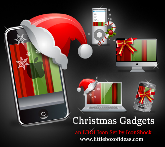 40+ Free Christmas Icon Sets 2009