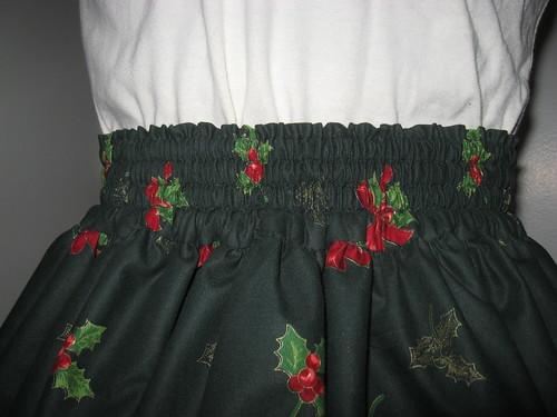 Christmas skirt 2009 013