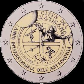 2 euro Vatikán 2009, Medzinárodný rok astronómie