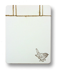Small Bound Recycled Notebook (Emily Levenson) Tags: corner ink notebook book image handmade small books stamp round bound hemp stabbinding handbound