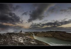 Fisherman at Snapper Rock (danishpm) Tags: ocean sea clouds canon eos fisherman rocks waves australia wideangle queensland aussie aus 1020mm coolangatta snapperrocks sigmalens rainbowbay northernnsw eos450d 450d tweedshire sorenmartensen