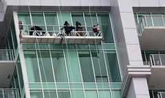 High Level Work (BigtimeYYC) Tags: canada calgary skyscraper canon victoriapark cleaning condo alberta arriva curtainwall windowwashing canonrebelxsi
