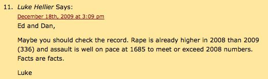 Luke Hellier on Rape and Aggravate Assaults