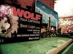 Wolf 9mm (Richard Wynn) Tags: red newzealand florence wolf garage bullet 9mm cartridge luger