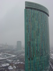 Birmingham in snow | Beetham Tower (AY Stock) Tags: city winter england snow weather skyline birmingham rotunda snowfall citycentre westmidlands brum beethamtower hollowaycircustower