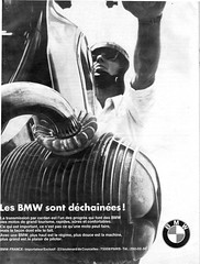 Pub BMW (gueguette80) Tags: paris france bike advertising pub competition moto bmw 1985 publicit programme vitesse motorrad rungis